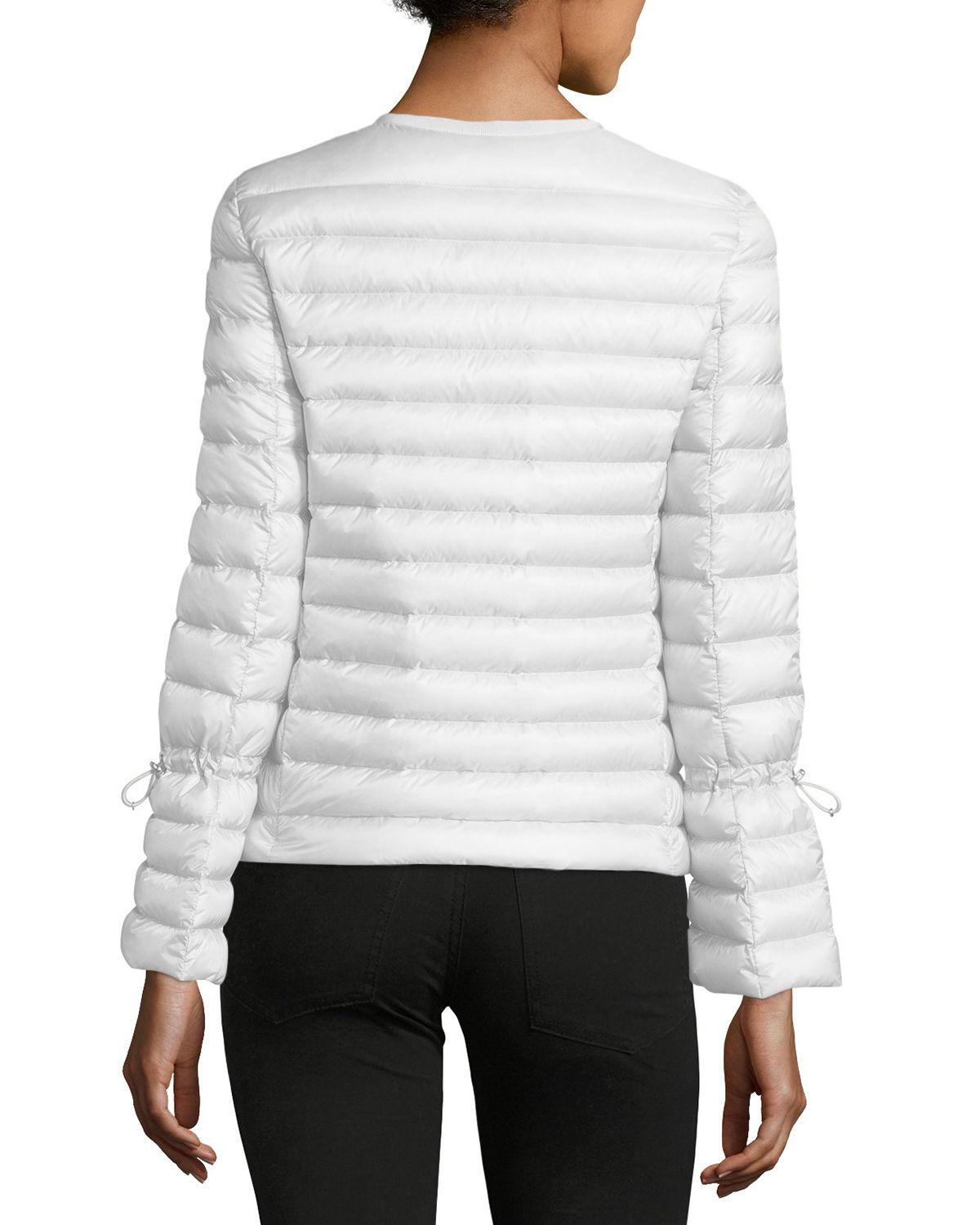 c44771750 Lyst - Moncler Almandin Quilted Puffer Jacket in White