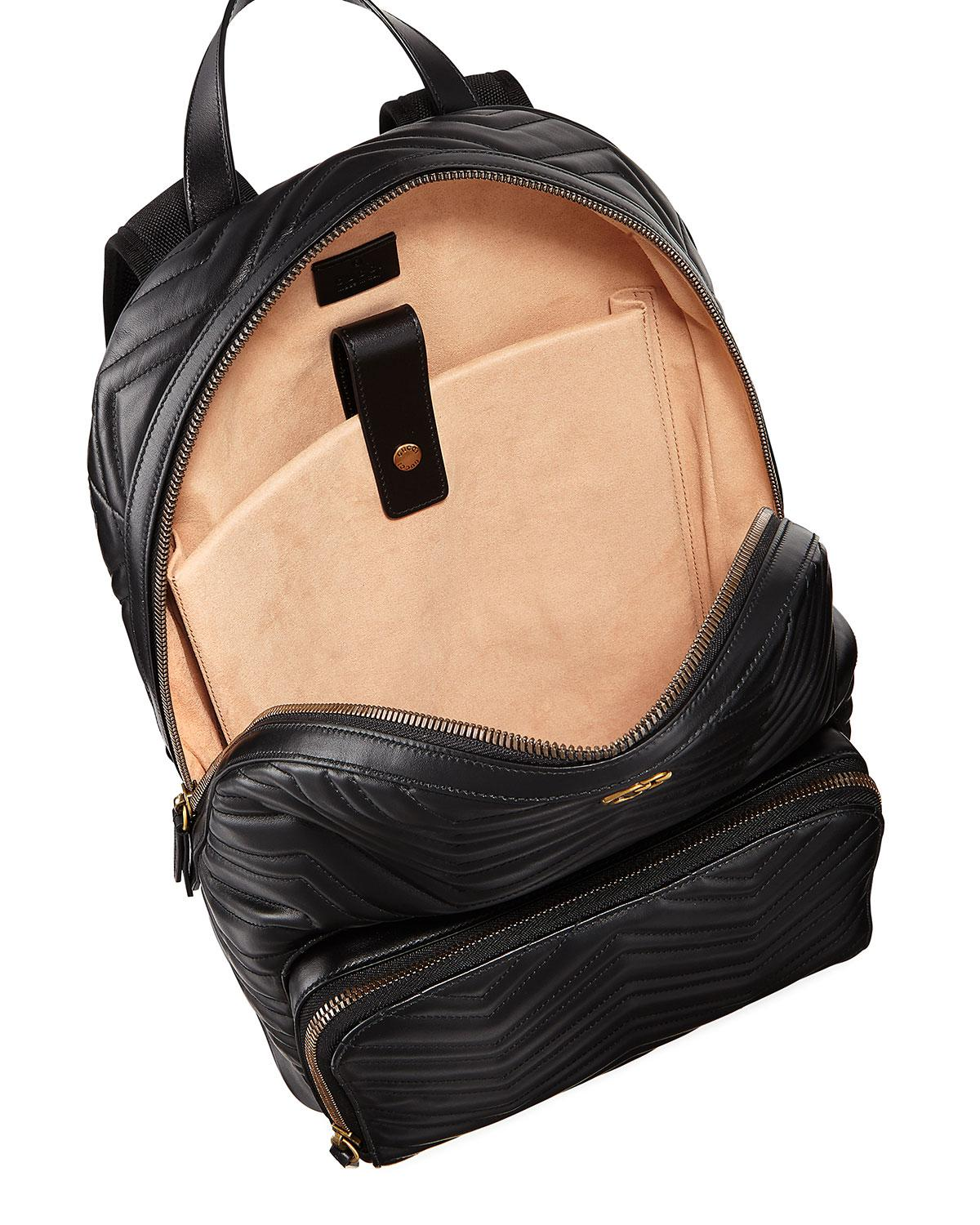 973812b8d59 Gucci Men s GG Marmont Quilted Leather Backpack in Black - Lyst