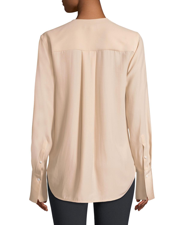 ddd4c43ebff69 Elie Tahari Judith Long Sleeve Silk Blouse W Tiered Cuffs Neiman