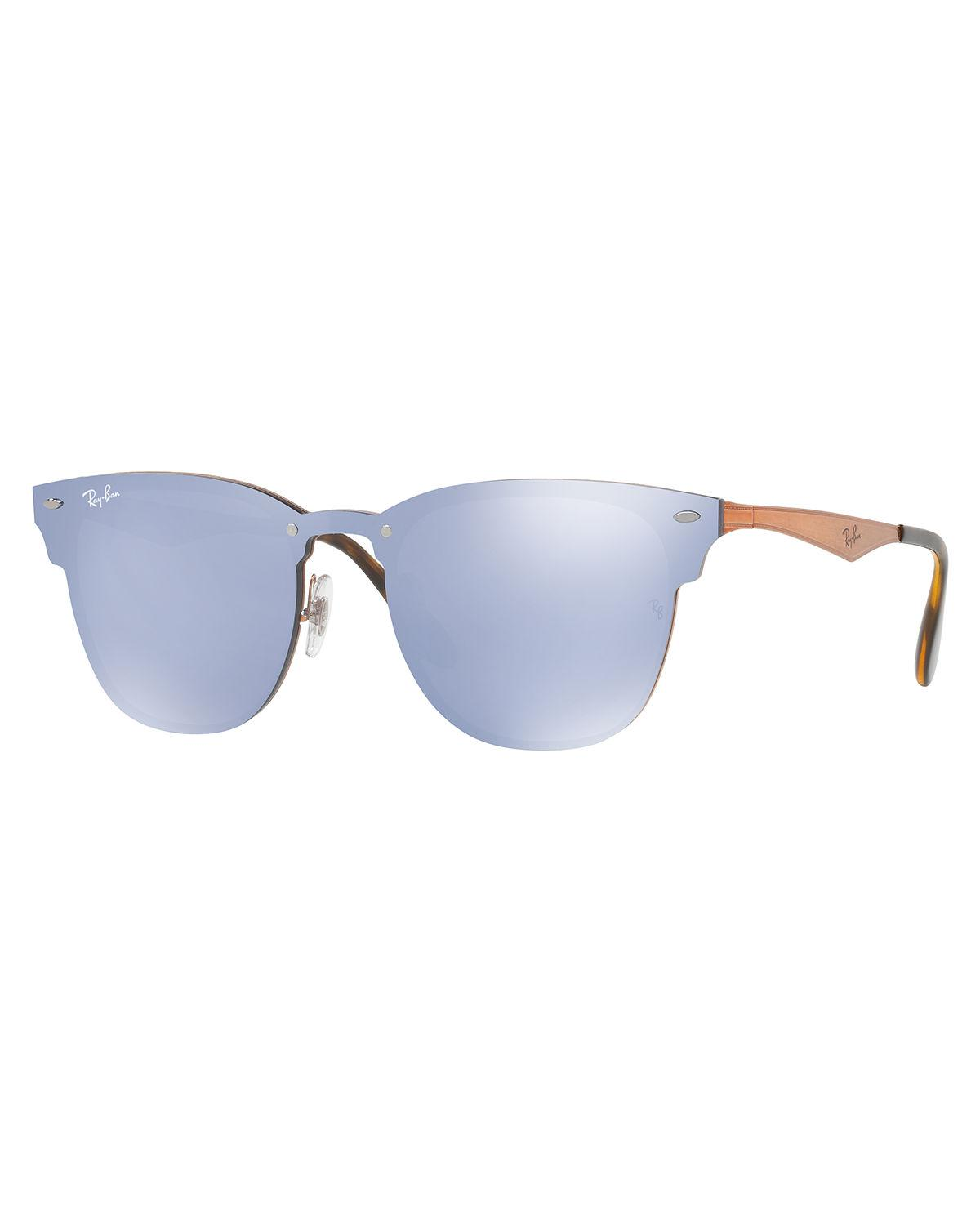 Lyst - Ray-Ban Blaze Clubmaster Lens-over-frame Sunglasses in Blue ...