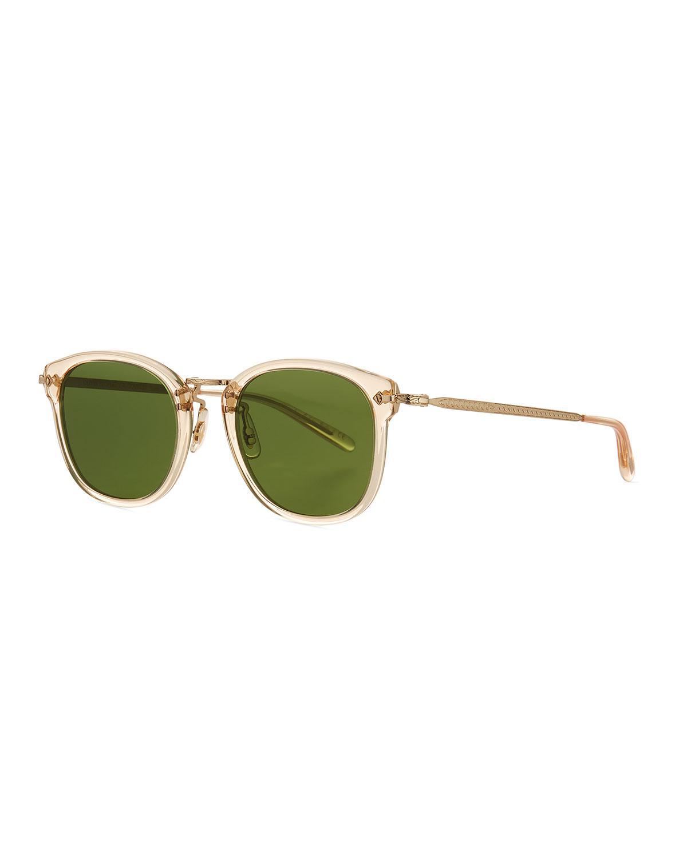 ab1928ac70 Lyst - Oliver Peoples Men s Op-506 Acetate metal Sunglasses in Green ...