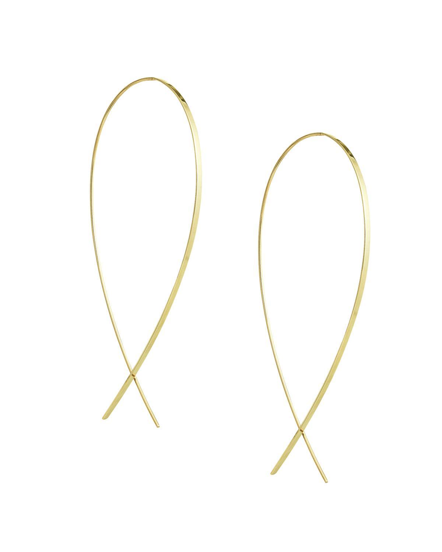Lana Jewelry Large Flawless Vol. 6 Diamond Upside Down Earrings in 14K Gold ofK1g