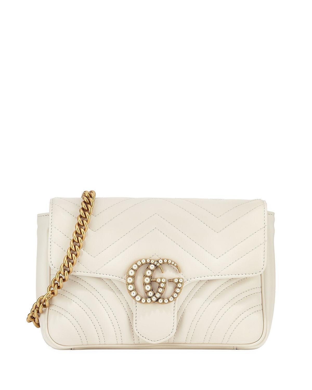 6b06a3fb5789af Gucci Gg Marmont Matelassé Flap Belt Bag in Black - Lyst