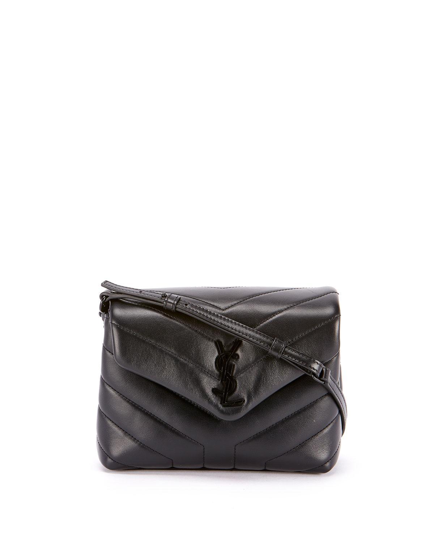 Saint Laurent. Women s Black Loulou Toy Monogram Ysl Quilted Shoulder Bag f630a767d4