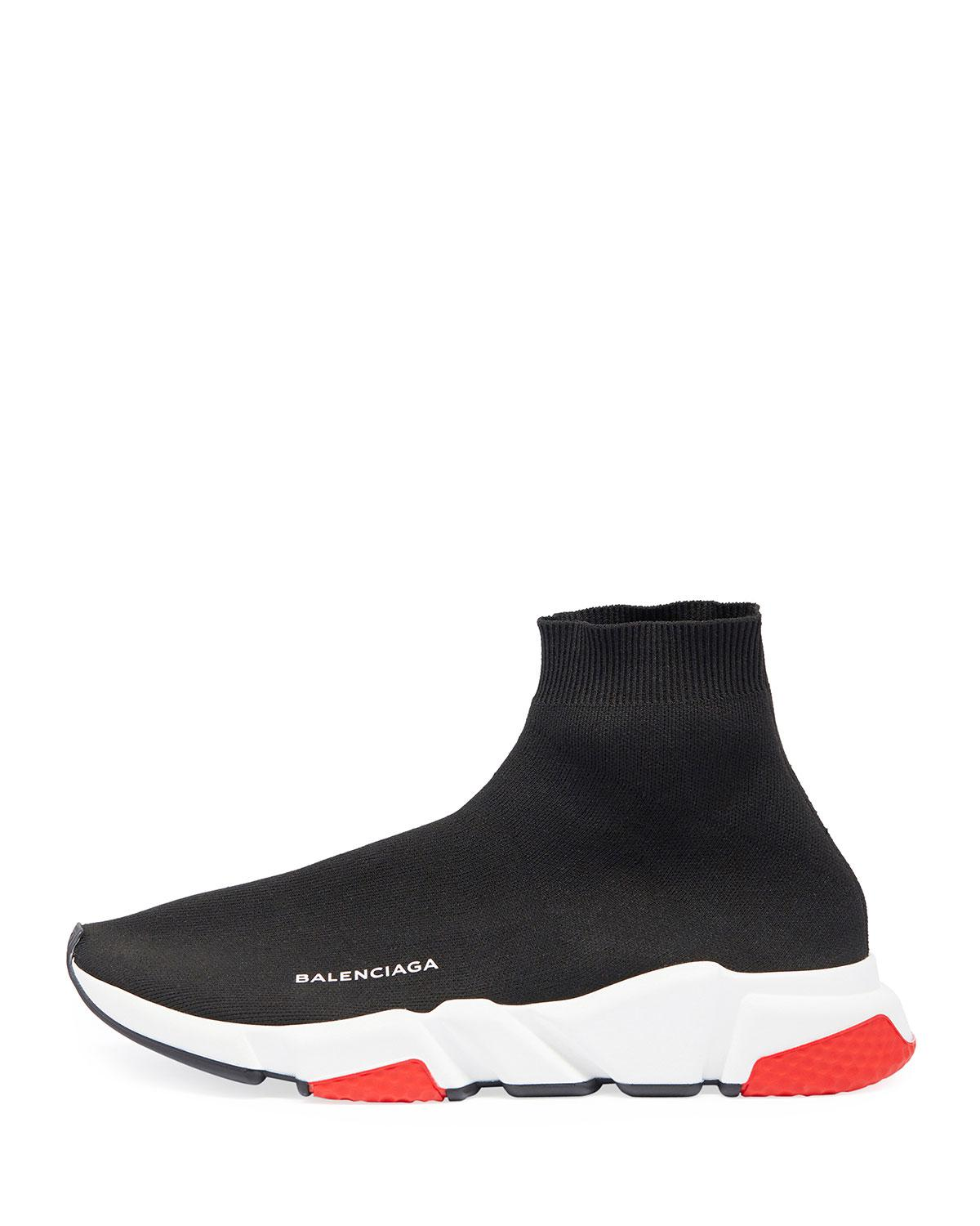 f43579a08292 Lyst - Balenciaga Men s Speed Mid-top Trainer Sock Sneakers in Black for Men  - Save 4%