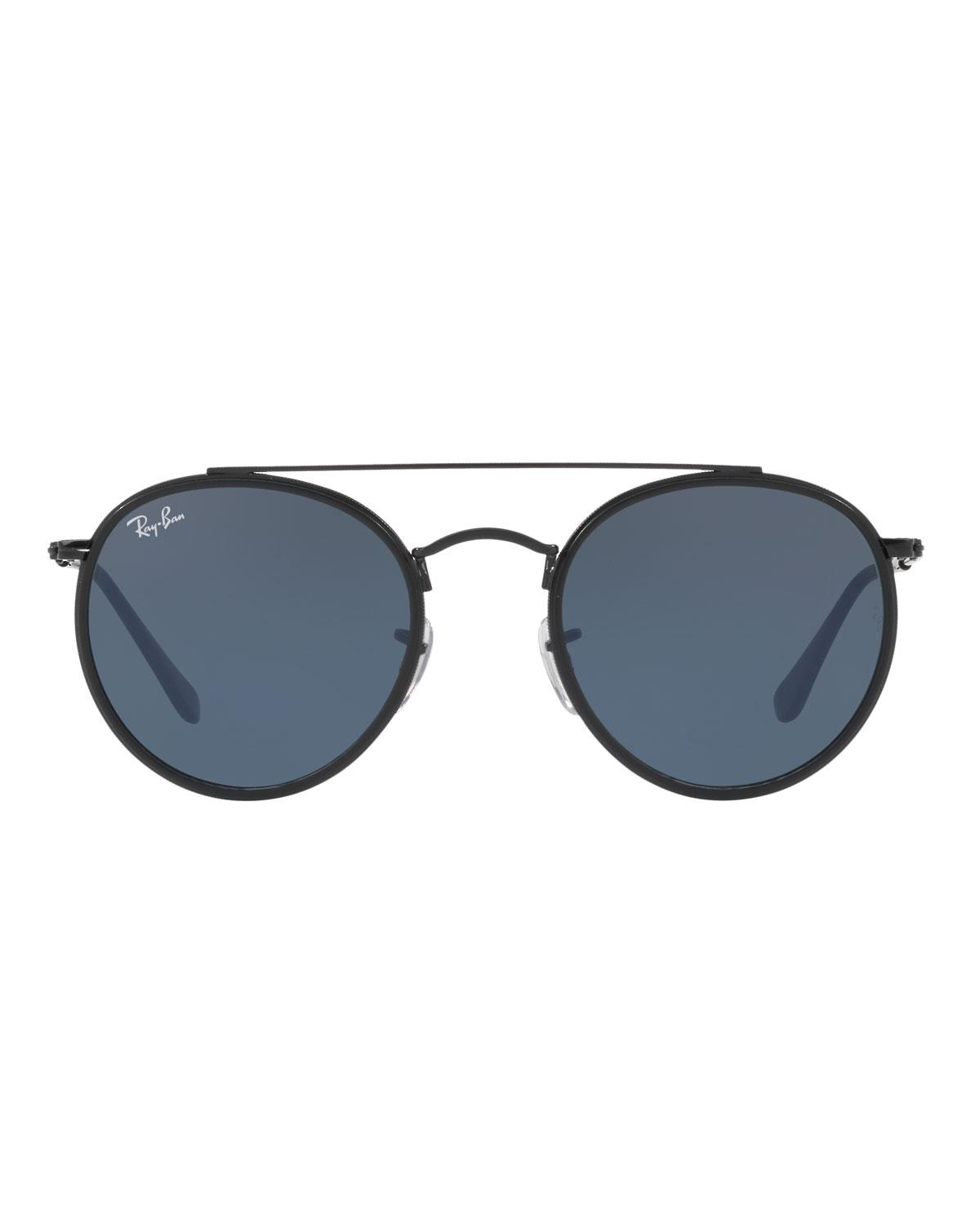 bad883bfc4 Lyst - Ray-Ban 3647n Round Sunglasses in Black