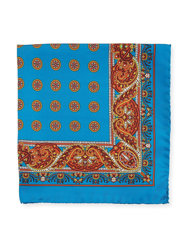Mens Floral Silk Twill Pocket Square Kiton wYjMAW3UC