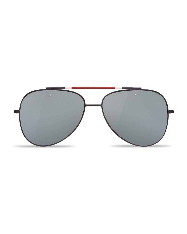 5f443c4a01 Lyst - Vuarnet Men s Titanium Aviator Sunglasses in Brown for Men
