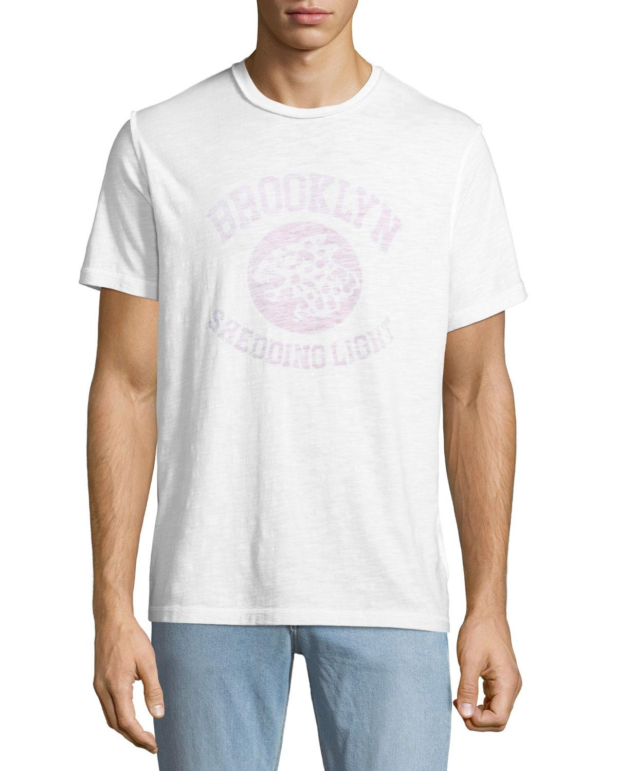 32914c4b13a1 Lyst - Ovadia And Sons Men's Shedding Light Graphic T-shirt in White ...