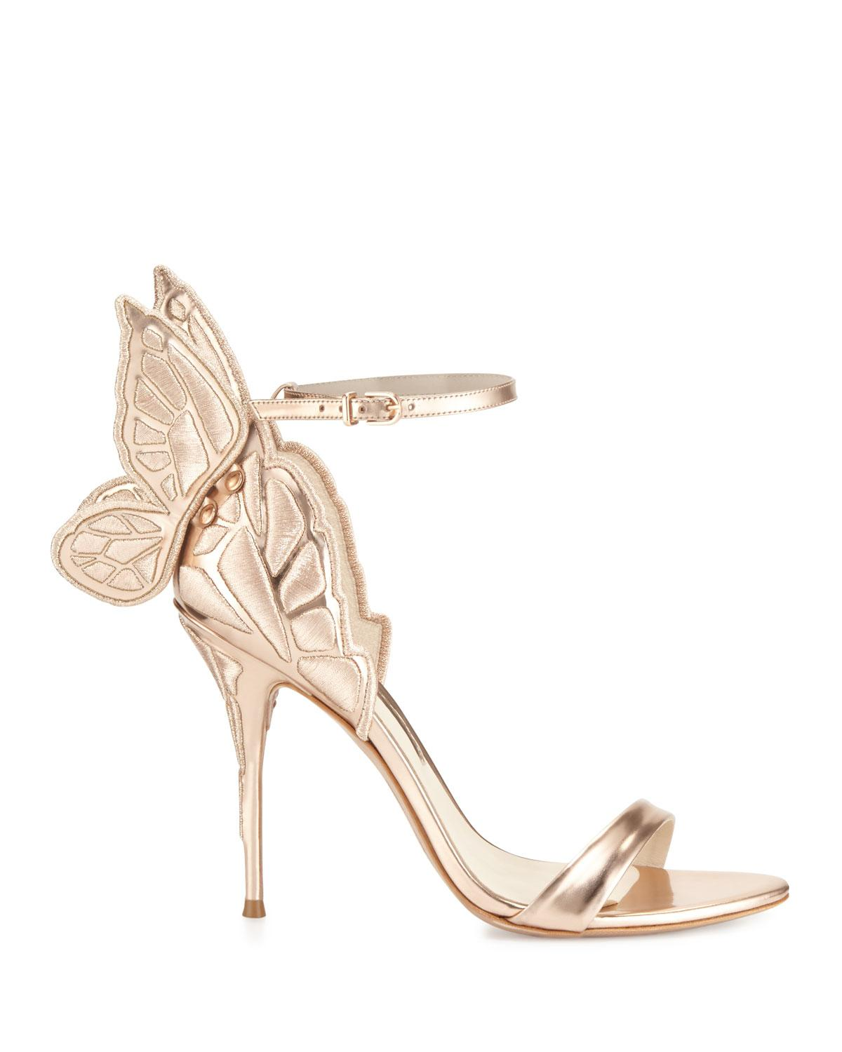 43f96ab44c Sophia Webster Chiara Butterfly Wing Ankle-wrap Sandals in Metallic - Save  9% - Lyst