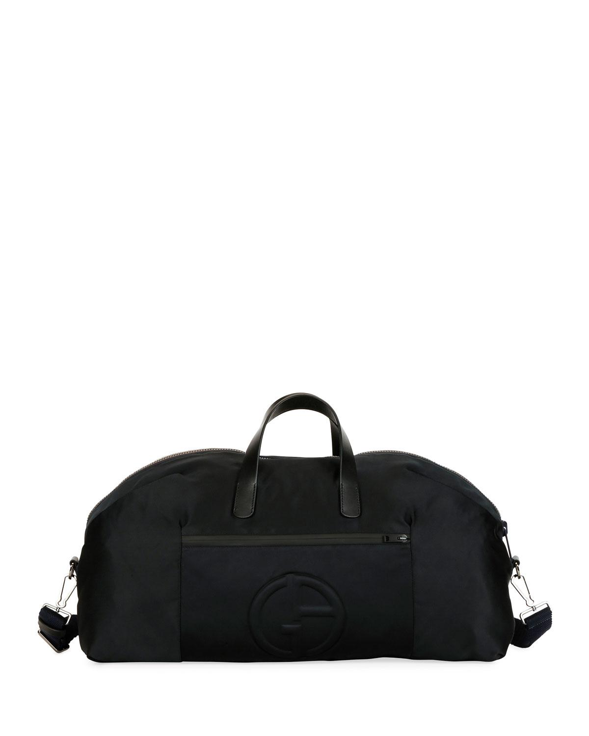 c06ecb7c6cce Lyst - Giorgio Armani Men s Nylon Carryall Duffel Bag in Black for Men