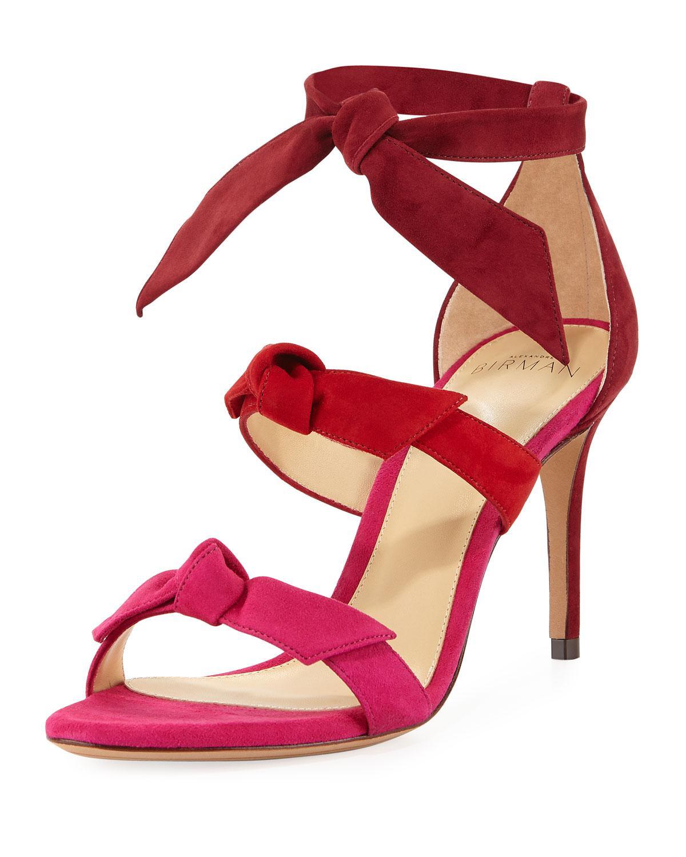 3fe41414b104 Lyst - Alexandre Birman Lolita Three-bow Ombre Suede Sandal