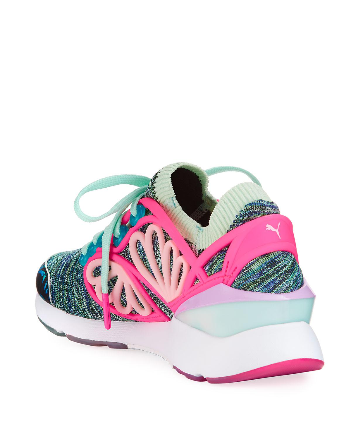 ... reduced lyst puma x sophia webster pearl cage graphic knit trainer  sneaker eb448 9f1d1 16d3d8767