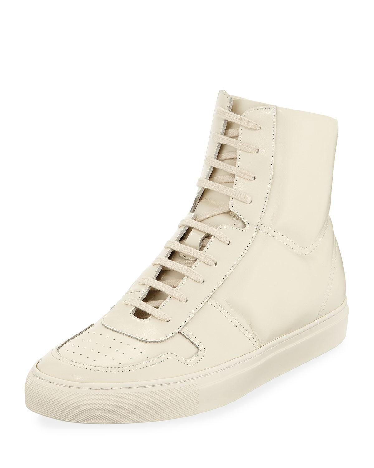 2fb686bf78c5 Lyst - Common Projects Men s Bball Leather High-top Sneakers in ...