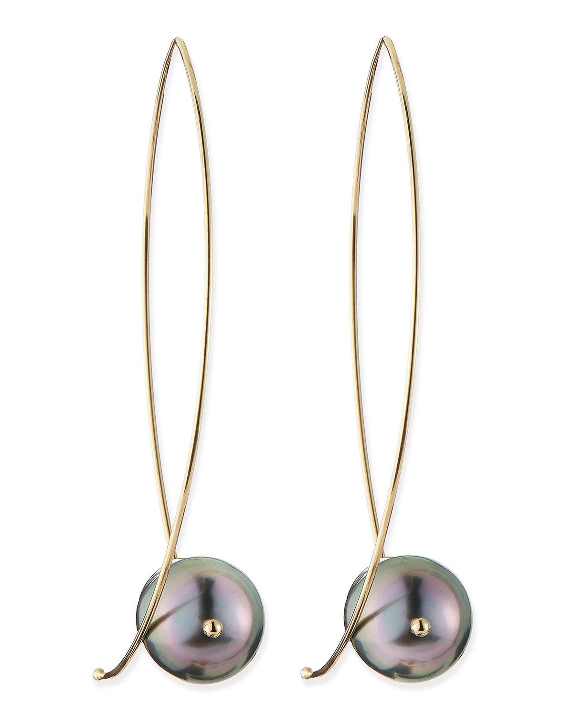 Mizuki 14k Pearl Marquise Hoop Earrings PFwuHgfu5l