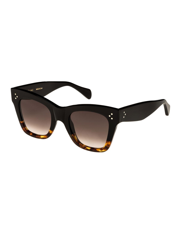 cb90ff1c44 Céline Two-tone Gradient Cat-eye Sunglasses in Black - Lyst