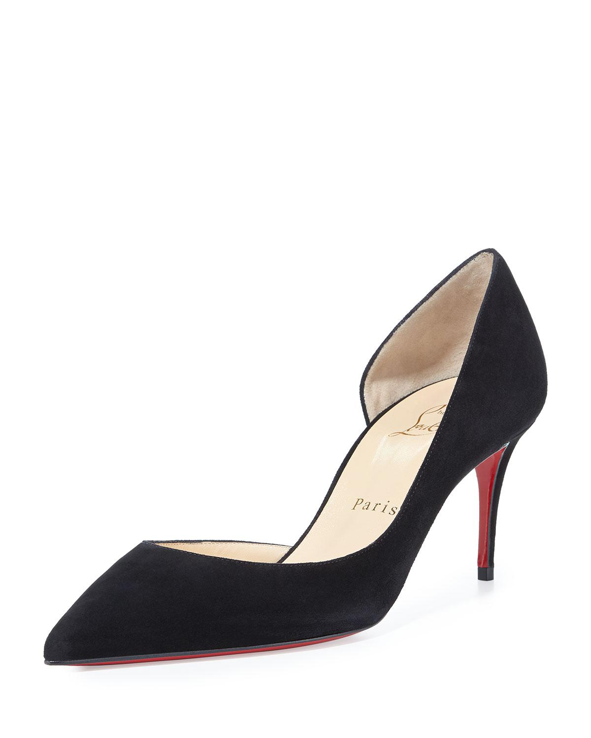 d55ba214fc94 Lyst - Christian Louboutin Iriza Half-d orsay 70mm Red Sole Pump in ...