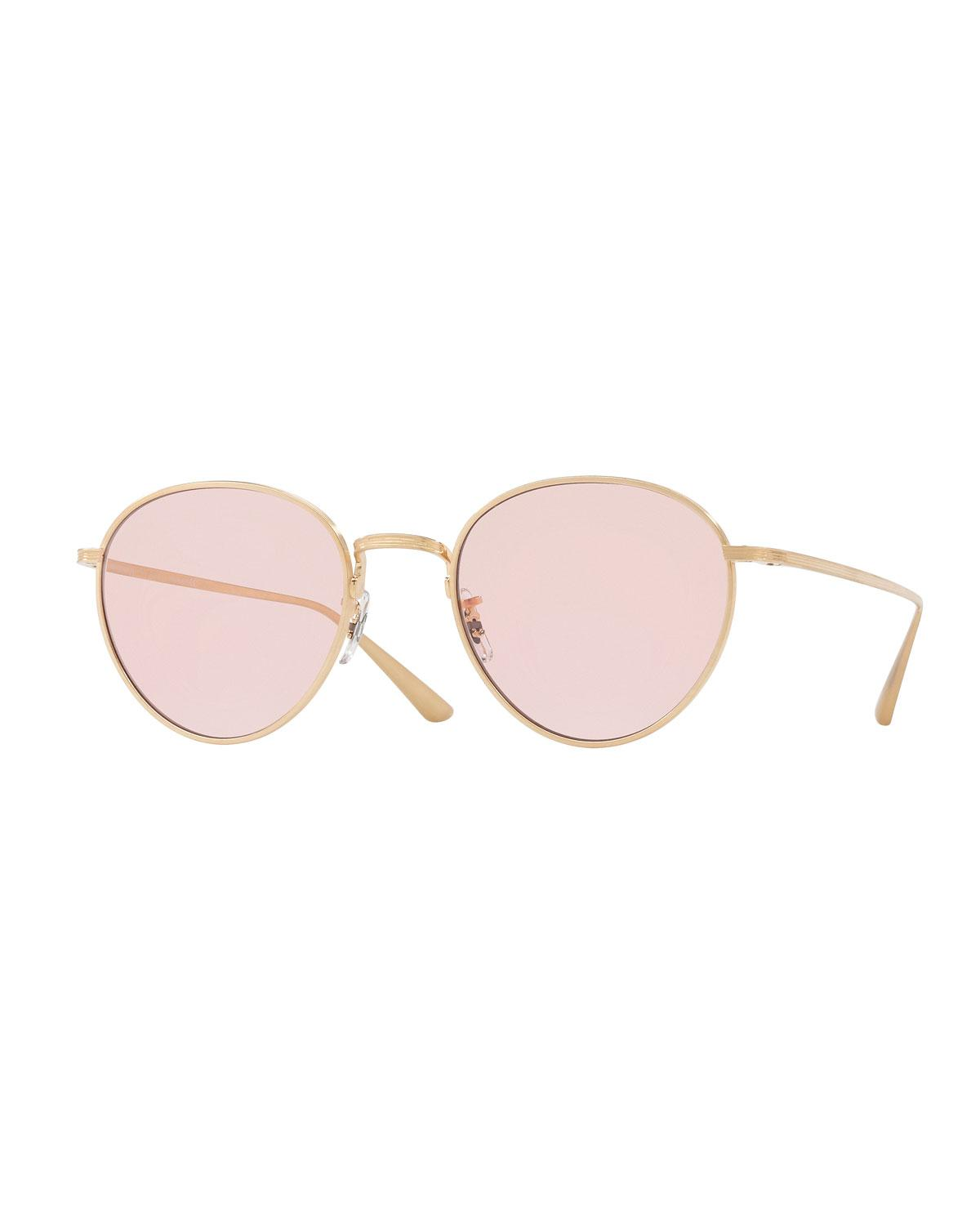 4f931106b71 Lyst - Oliver Peoples Brownstone Photochromic Round Titanium ...