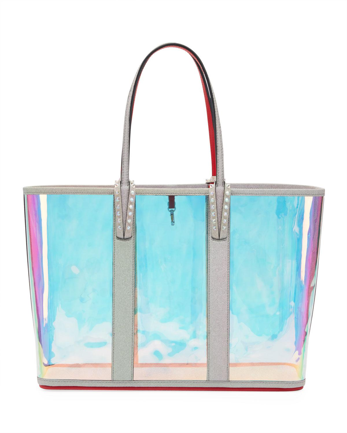Lyst - Christian Louboutin Cabata Glitter Sunset Vinyl Tote Bag in Blue 08bc8f80ee9f4