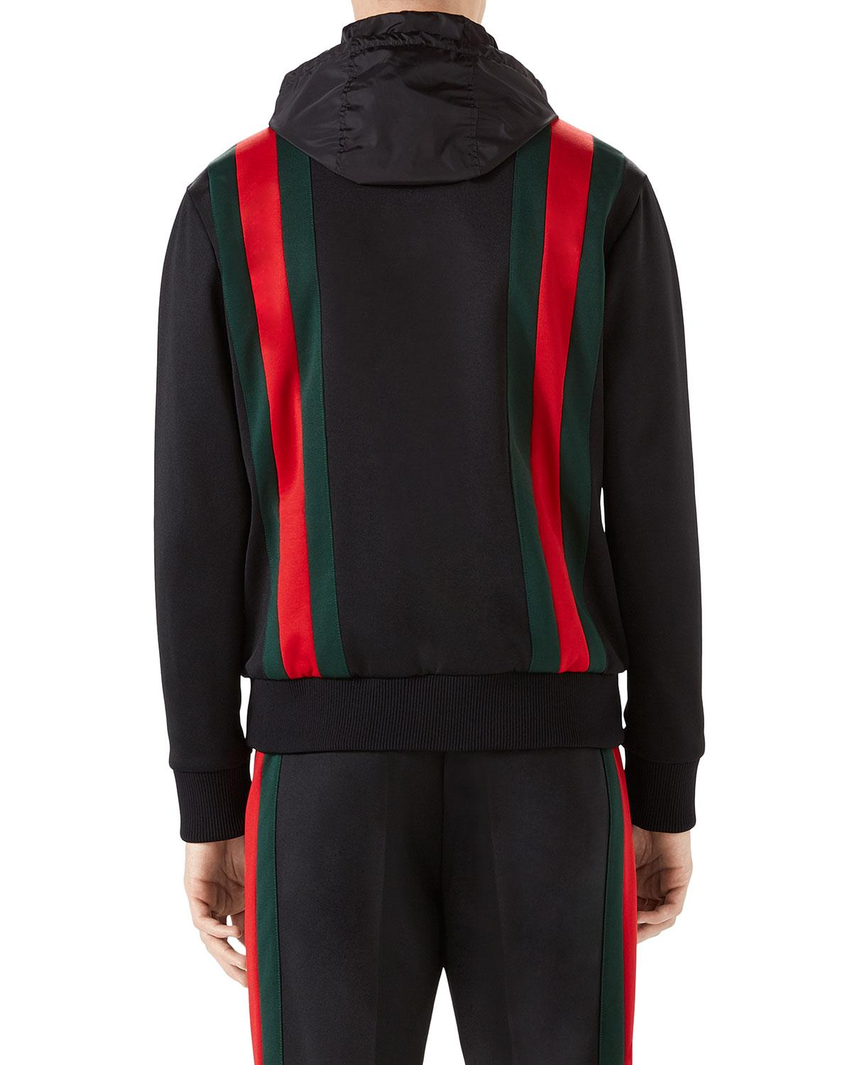 285b8ff83 Gucci Web-striped Track Jacket in Black for Men - Save 30% - Lyst