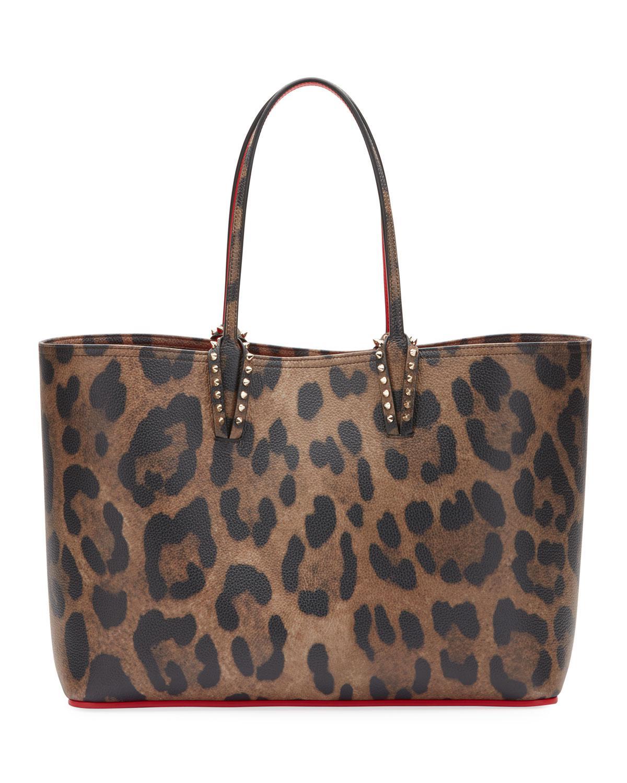1a48987e90 Christian Louboutin. Women s Brown Cabata Empire Leopard-print Leather Tote  Bag