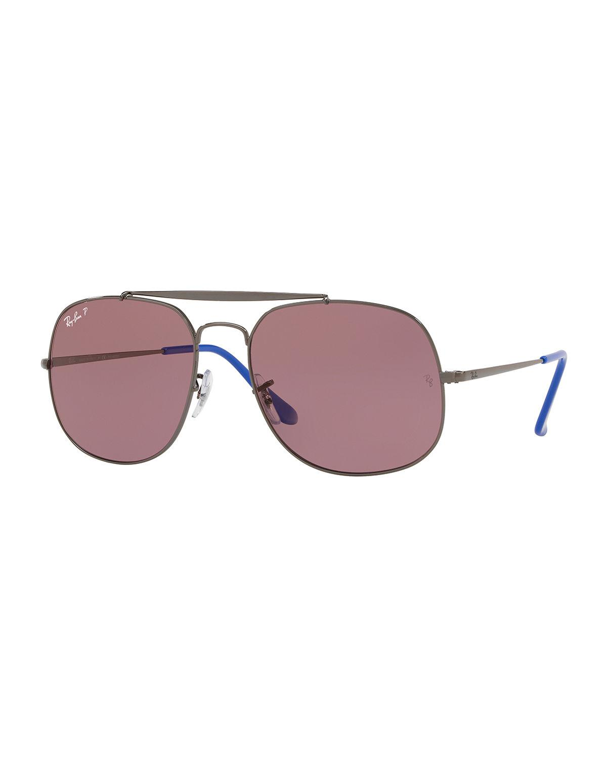 b8b88df528 Lyst - Ray-Ban The General Men s Polarized Aviator Sunglasses in Red ...