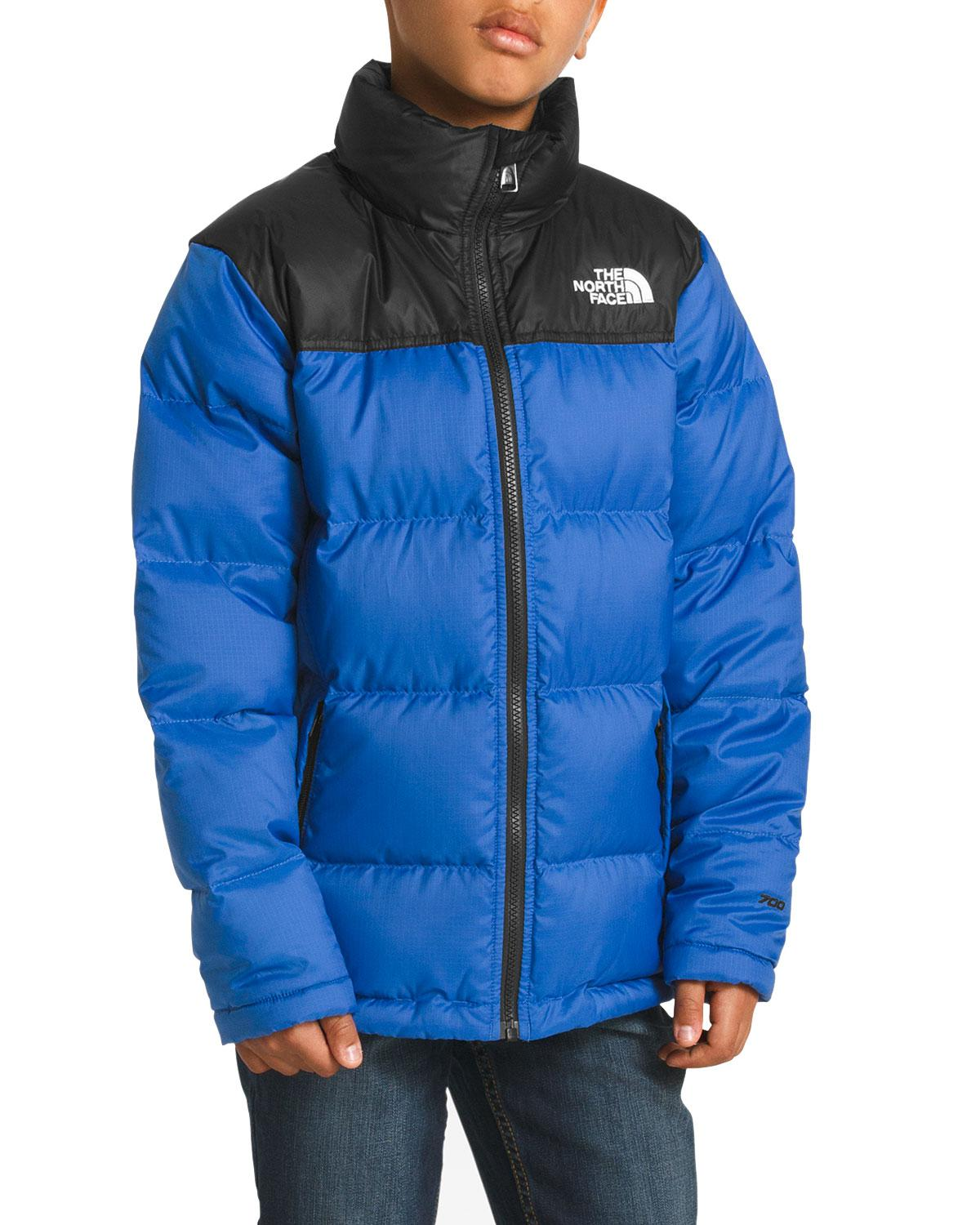 reduced lyst the north face novelty nuptse jacket in navy in