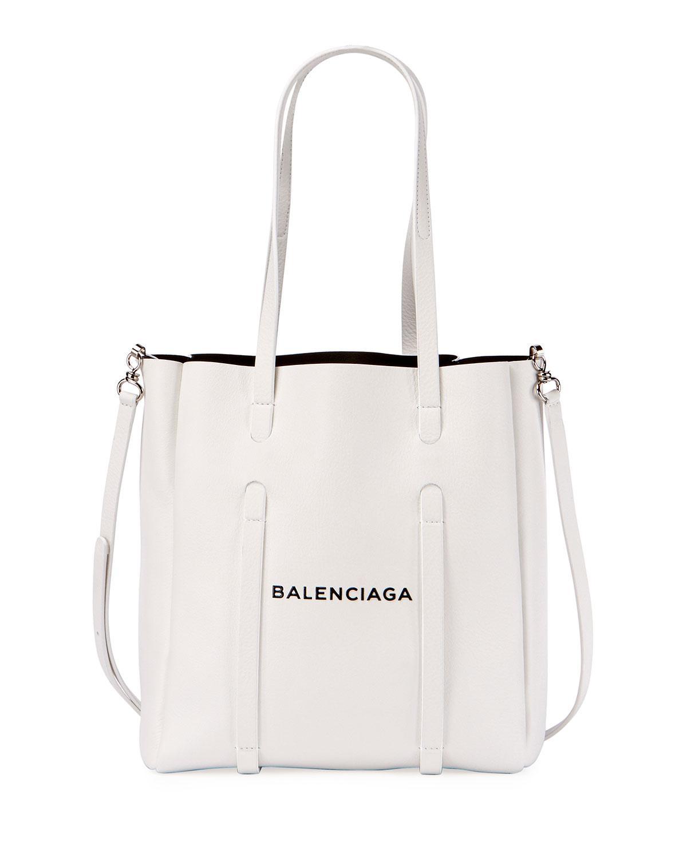 Balenciaga - White Everyday Small Leather Logo Tote Bag - Lyst. View  fullscreen fbdf11736a4cc