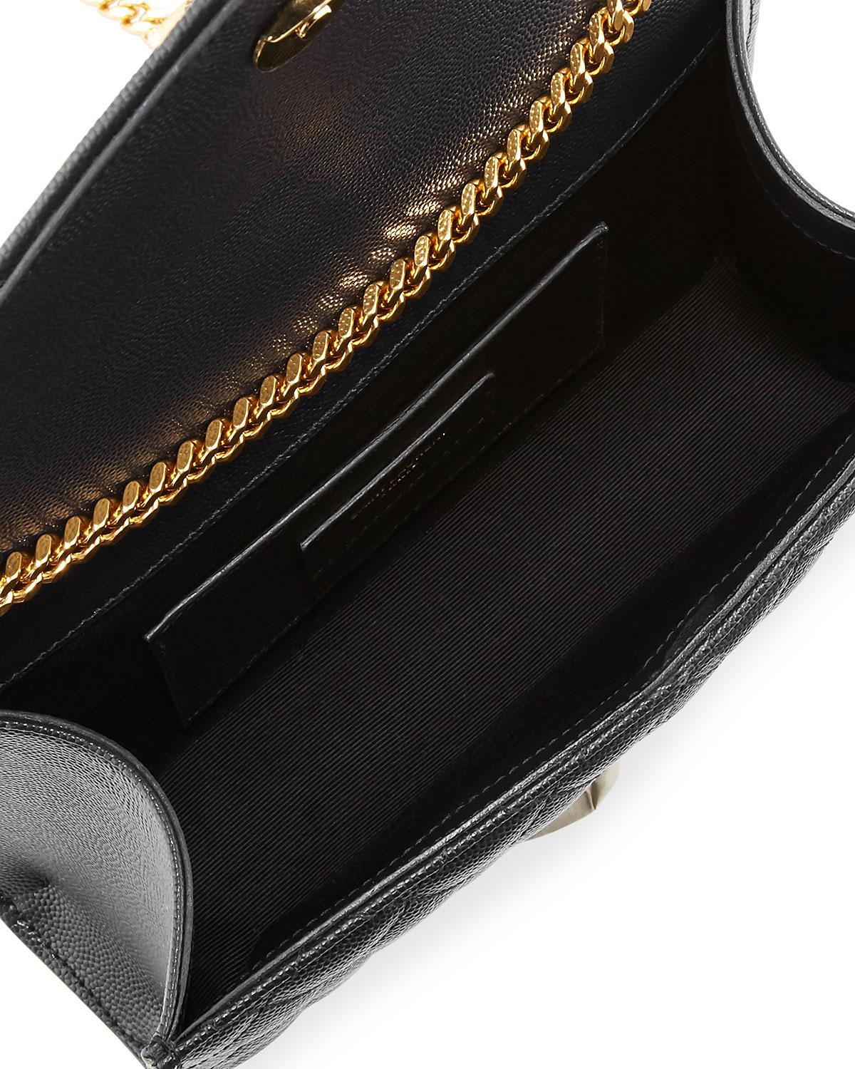 Saint Laurent. Women s Black Monogram Ysl Envelope Small Chain Shoulder Bag  ... 8cd1620dbb5db