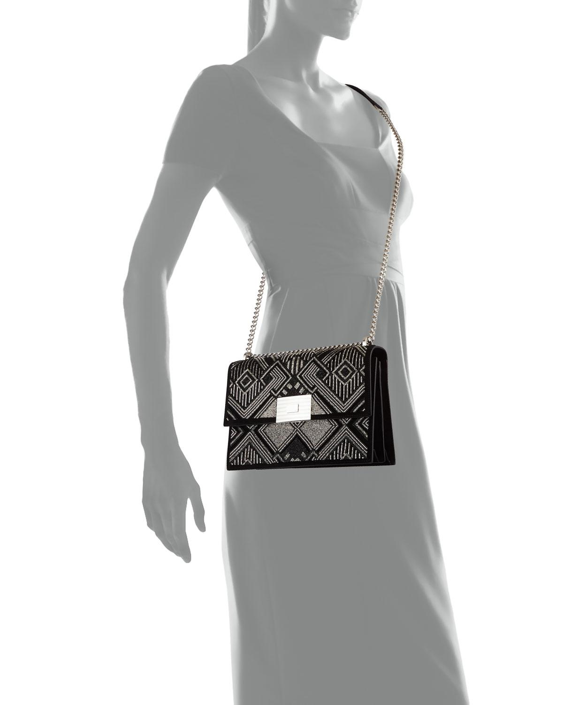 Ralph Lauren Geometric Beaded Suede Chain Shoulder Bag UJFN2l