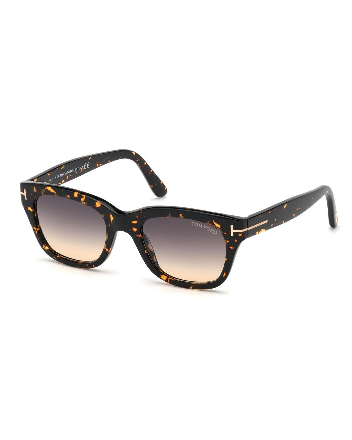 19f04f5cc04 Tom Ford - Brown Men s Snowdon Square Plastic Gradient Sunglasses - Lyst.  View fullscreen