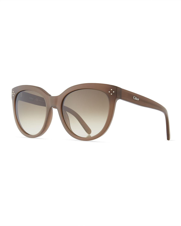 8a250e9dbcb Lyst - Chloé Boxwood Modified Cat-eye Sunglasses in Gray