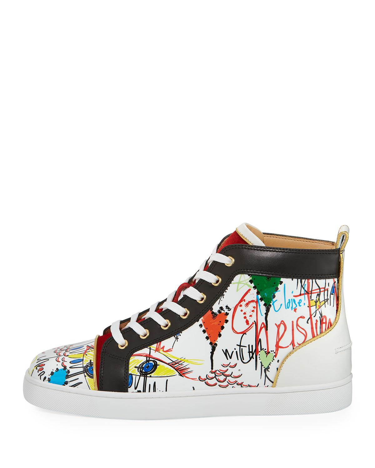 d7ca0f8fdabe Lyst - Christian Louboutin Louis Loubi Tag Men s Lace-up Sneaker in ...