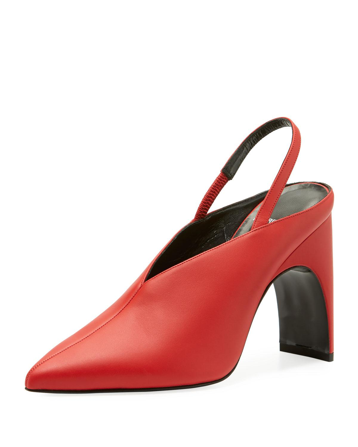 90e69adc046 Lyst - Pierre Hardy Jessie Leather Slingback Pumps in Red - Save 61%