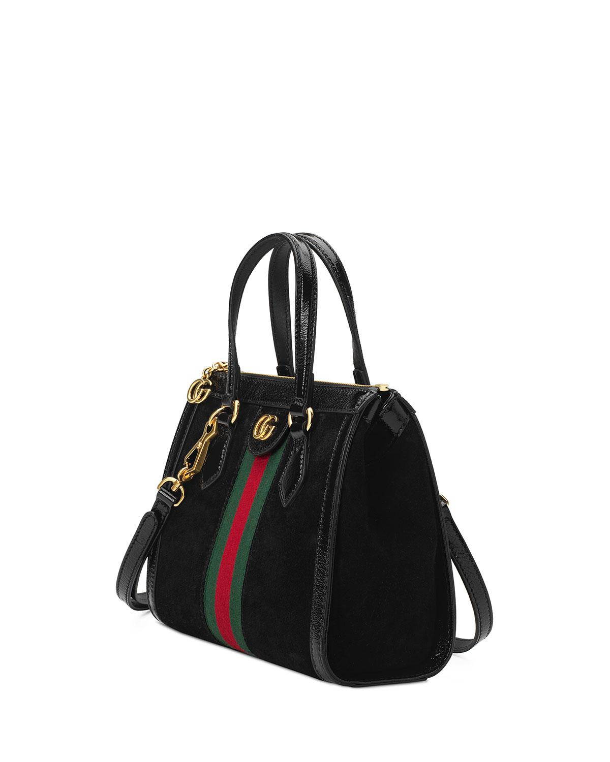 a37dd8bde1ee Gucci - Black Ophidia Small Tote Bag - Lyst. View fullscreen