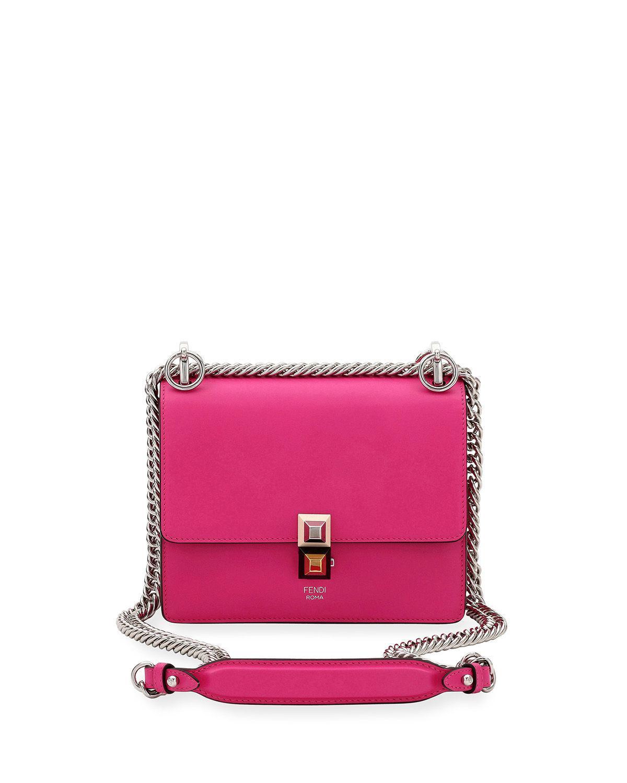 4879730cdc9a Lyst - Fendi Kan I Mini Scallop Studded Shoulder Bag in Purple