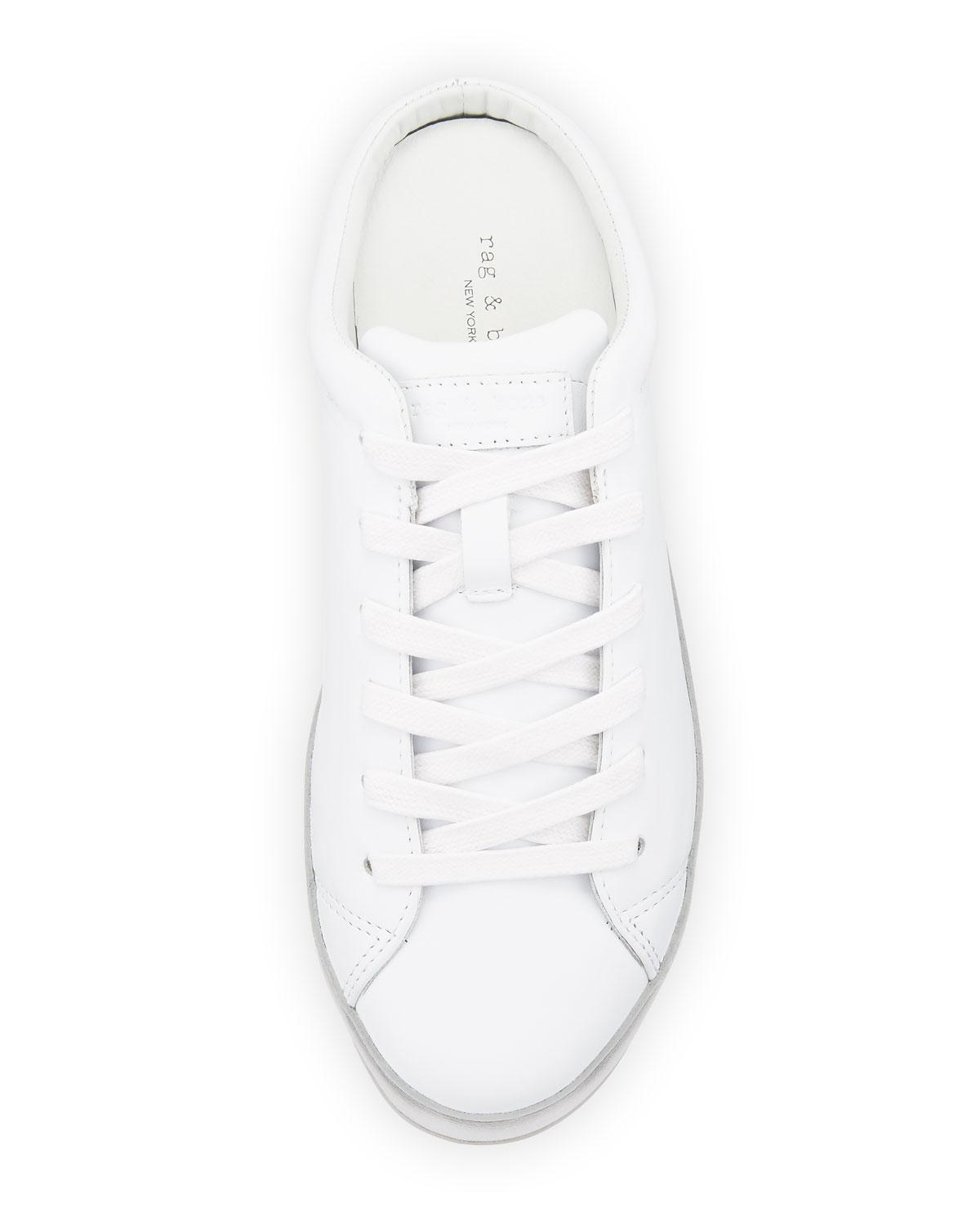b739eb49b9235 Rag & Bone Rb1 Leather Sneakers-style Mule in White - Lyst
