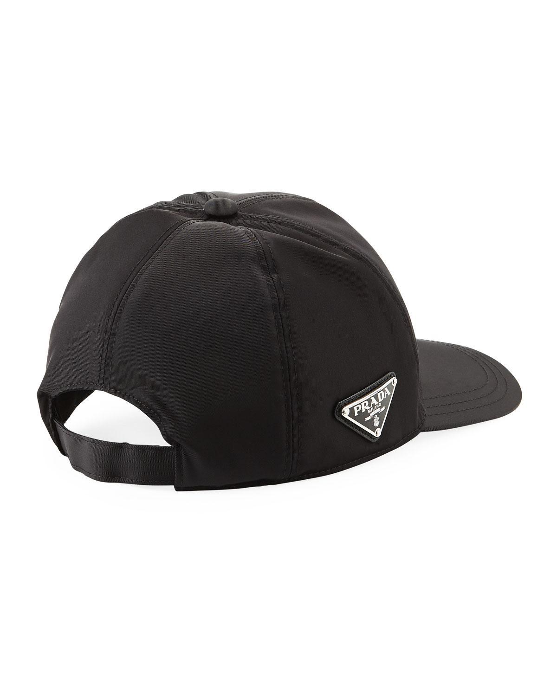 7ed110bb6f1 Lyst - Prada Men s Logo-plaque Baseball Cap in Black for Men