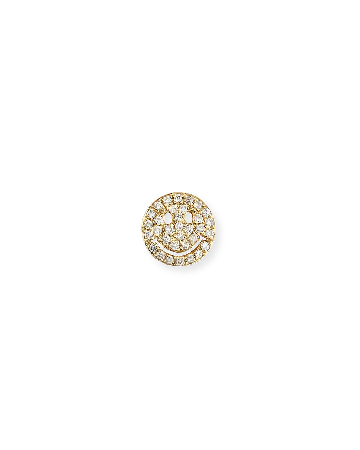 Sydney Evan Large Pavé Diamond Happy Face Stud Earring 1LYHlxBJh