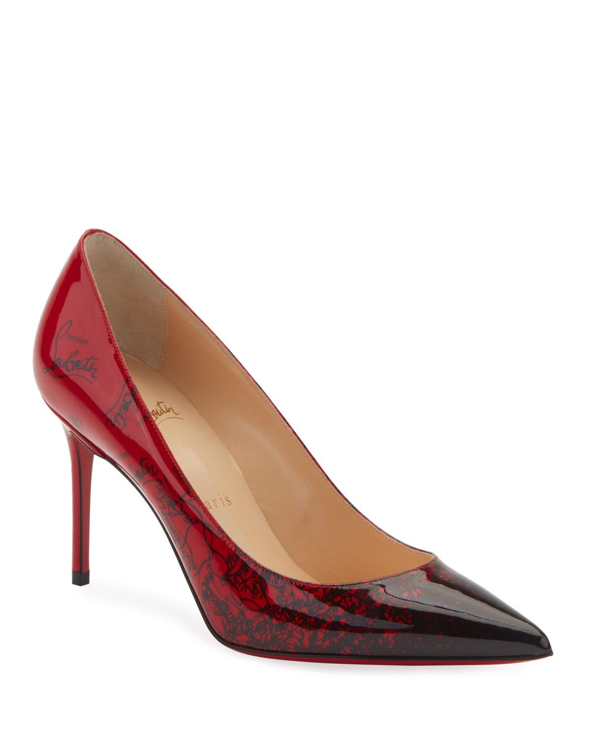 outlet store 3cde1 ed19e Lyst - Christian Louboutin Decollete 554 Mid-heel Patent ...