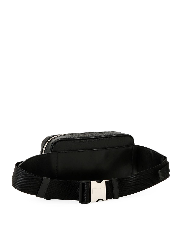d3e8f6c344c8 Lyst - Prada Men s Saffiano Leather Travel Belt Bag fanny Pack in Black for  Men