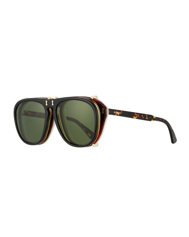 cbca72e14b5 Lyst - Gucci Men  s Acetate Aviator Optical Frames W  Sunglasses in .