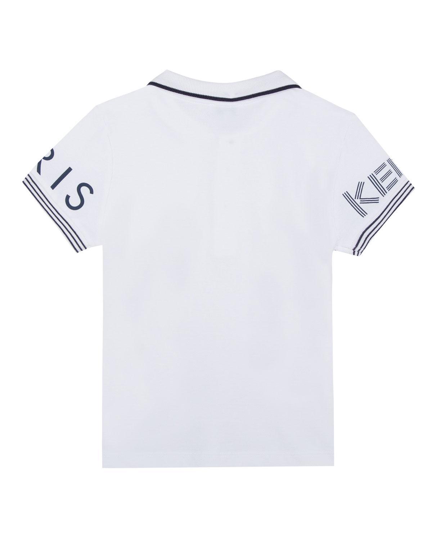 1b320b5377 Lyst - Kenzo Logo-sleeves Polo Shirt in White for Men - Save  8.695652173913047%