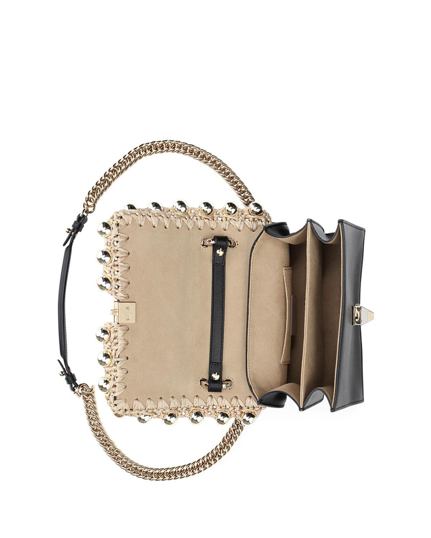 Fendi Kan I Pearly Edge Chain Shoulder Bag dnIrPzLmQx