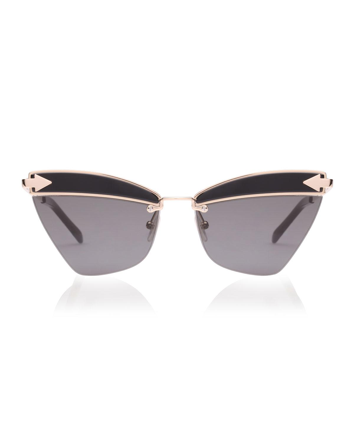 26094b45097e Karen Walker Sadie Cat-eye Geo Sunglasses - Lyst