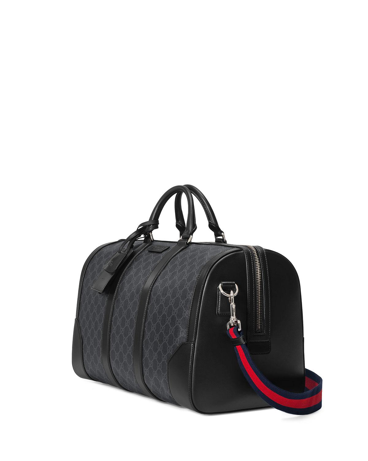 3e23c4951f84 Gucci Soft GG Supreme Carry-on Duffle in Black for Men - Save 16% - Lyst
