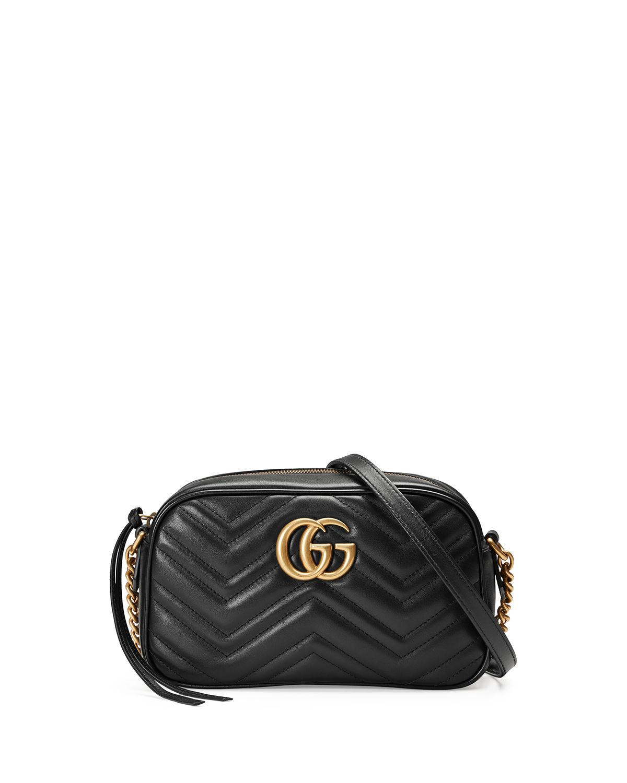 cb7dc499e71b Gucci Gg Marmont Small Matelassé Shoulder Bag in Black - Save 35% - Lyst