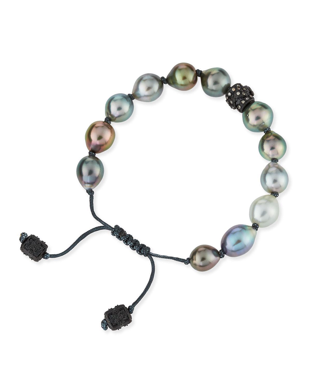 Armenta Old World Mystic Moonstone & Pearl Bracelet with Champagne Diamonds lIOkKV