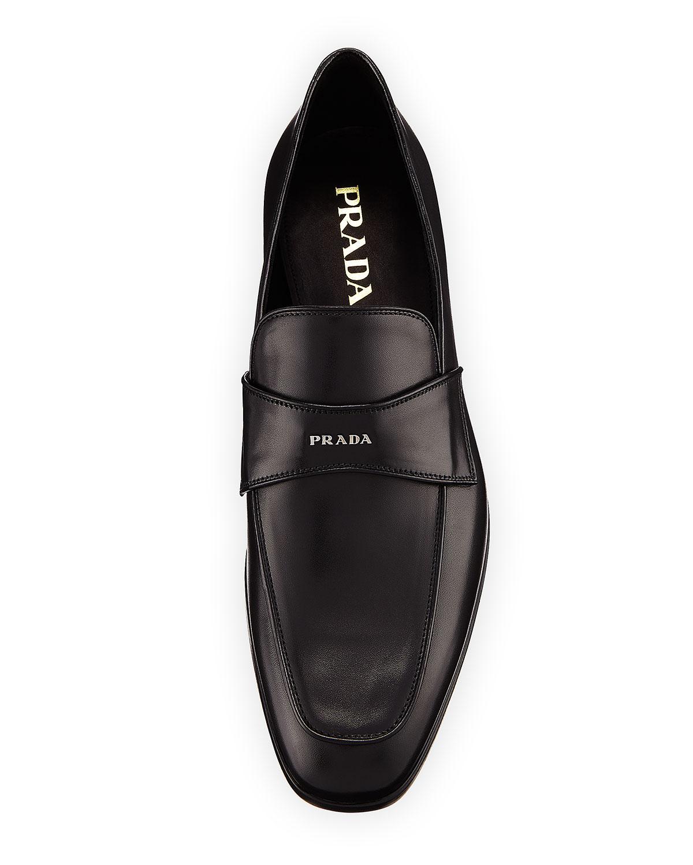 d0c224cb58e Lyst - Prada Vitello Leather Dress Loafer in Black for Men