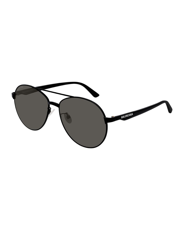 fbae6afff094 Balenciaga - Black Men's Aviator Metal Unisex Sunglasses for Men - Lyst.  View fullscreen